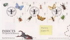 TALLENTS PMK GB ROYAL MAIL FDC 2008 UK SPECIES IN RECOVERY- INSECTS STAMP SET