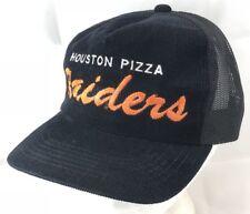 Vtg 80s Mesh Trucker Hat Snapback Cap Houston Pizza Raiders Sports Team Hip Hop