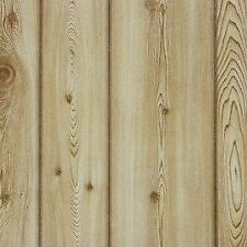 Pine Wood Effect Wallpaper Realistic Textured Wooden Plank Boards Brown Erismann