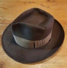 Vtg 1940s Stetson 3X Mode Edge Fedora hat. 7 Nice