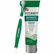 Vet's Best Enzymatic Dog Toothpaste | Teeth Cleaning and Fresh Gel + Toothbrush