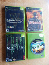 XBox Game LOT of 4 Games-Morrowind, Wolfenstein, Enter the Matrix, Hot Pursuit 2
