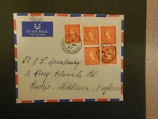 1957 British Forces Po Christmas Island Airmail Cover To England