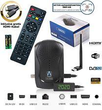 Mini HD Sat Receiver PVR Ready mit Aufnahmefunktion Anadol 777 DVB-S2 HDMI WLAN