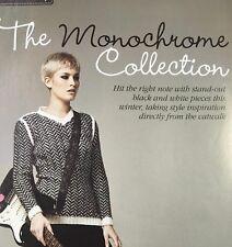 KNITTING PATTERN Ladies Mohair Stripe Sweater Dress Pockets Roll Neck Chunky