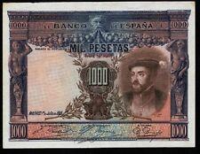Año 1925. Billete de 1000 Pesetas 1 de Julio Carlos I. Sin Serie Nº 4.018,998.