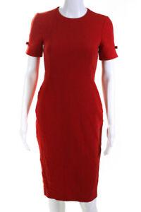 L.K. Bennett Womens Trinu Sheath Dress Red Size 2 11552977