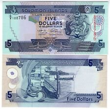 **   SALOMON  Islands     5  dollars  2004   p-26a    UNC   **
