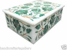 "6""x4""x2"" Marble Jewelry Box Plans Hakik Inlay Mosaic Pietradure Art Home Decor"