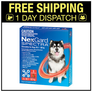 NexGard Spectra Chewables For Very Large Dogs Red 30.1-60kg 6 Pack