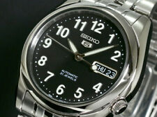 New Seiko 5 Automatic Black Dial Men's Watch SNK381