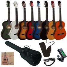 Pack Set de guitarra clásica española de iniciación adulto 4/4 con 5 accesorios