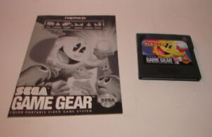 Pac-Man (Sega Game Gear, 1991) Original Game w/ Instruction Manual Booklet Book