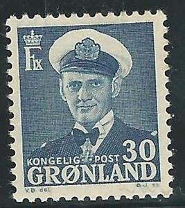 Greenland: 1950; Scott 33, key value,minimun rust, Mint Hinged EBGL01