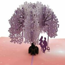 Lovers in a Jacaranda Tree pop up card