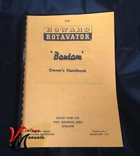HOWARD Bantam Rotavator / Rotovator Owners Handbook - A4 +  Foldout digram