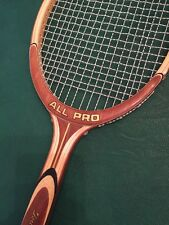 New NOS Vintage 1970's SSK All Pro Tournament, 4 1/2, wooden racquet