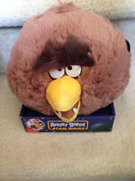 NEW Star Wars Angry Birds Plush 8 Inch CHEWBACCA No Sound