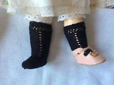 Antique pattern white socks for antique  fashion French German doll