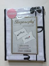 Sleeposophy Pillowcases Hubby Wifey Standard Size Wedding Gift Novelty New