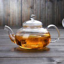 600ML-1000ML Heat Resistant Clear Glass Teapot With Infuser Flower Tea Hot