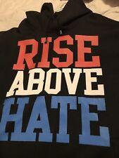"WWE WWF John Cena ""Rise Above Hate"" Black Hoodie Hoody Sweatshirt Size XL Used"