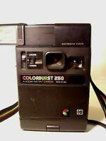 Vintage *TESTED* 1978 Kodak Colorburst 250 Instant Camera With Shoulder Strap ..