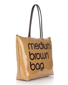 BLOOMINGDALE'S Medium Brown Bag Zipper Purse