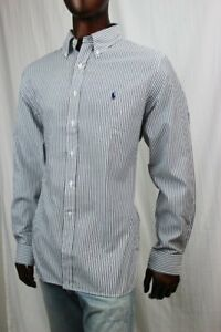 POLO Ralph Lauren Charcoal And White Stripe Button Down~NWT~ Size 15 1/2 32/33