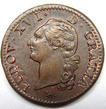 - Superbe monnaie -  Sol - Louis XVI - 1791 A - Paris - 2 Semestre -