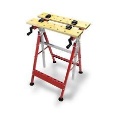 Werkbank 100 kg Werktisch klappbar Arbeitstisch ausziehbar bis 124 cm Spanntisch