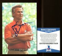 Don Shula Signed Goal Line Art GLAC Autographed Dolphins Beckett BAS