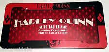 DC Comics Harley Quinn Red & Black Plastic Auto License Plate Frame