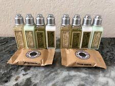 LOCCITANE Verbena 10 PCS TRAVEL SET Shampoo Conditioner Shower Gel Lotion Soap