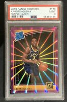 AARON HOLIDAY RC 2018-19 Donruss Rated Rookie RARE Purple Laser /15 - PSA 9 MINT