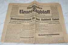 Stuttgart-Neues-Tagblatt-1931-Todesmeldung-Carl-Brackmann-Chefredakteur-