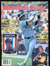 Baseball Cards Magazine February 1989 Jose Canseco w/Mint Cards jhscd4