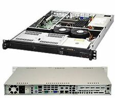 Supermicro 1he servidor carcasa sc811l-350b 350 vatios fuente de alimentación 80+ Gold 2x internamente