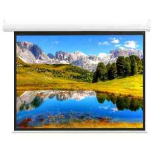 """vidaXL Electric Projection Screen with Remote Control 59"""" 1:1 Display Screen"""