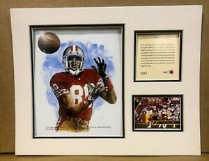 San Francisco 49ers Jerry Rice 1993 Football 11x14 MATTED Kelly Russell Print