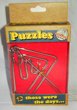 NEW ONE RETRO METAL PUZZLE TRADITIONAL BRAIN TEASER! TRIANGLE ACK