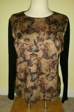Pierre Cardin Multi-Color Paisley Blouse/ Top Women's SZ XL