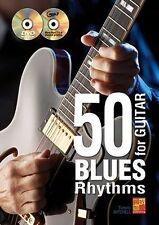 50 Blues Rhythms For Guitar Learn to Play MUSIC BOOK Lesson Tutorial & CD/DVD