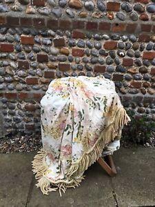 Vintage Floral Fabric Bedspread