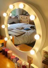 Unico e moderno tondo su misura Holly legno stile vanità specchio con lampadine a LED