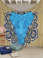 Bohemian Elephant Mandala Tapestry Wall Hanging Throw Couch Cover Christmas Du