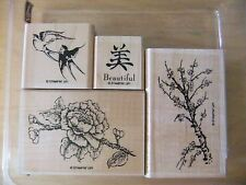 Stampin Up ~ Eastern Influences ~ Brids Asian Writing Beautiful Rubber Stamp Set
