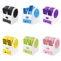 3 in 1 Air Cooler Fan Dual Port Bladeless Mute Portable Mini Desktop Fan AU