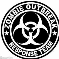 ZOMBIE OUTBREAK RESPONSE TEAM HELMET BUMPER BOX CAR STICKER DECAL MADE IN USA 3""