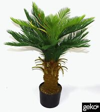 Indoor Outdoor Realistic Foliage Potted Artificial Large 90cm Cycas Tree Plant